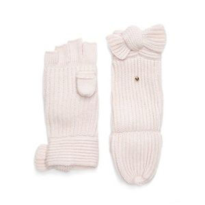 NWT Kate Spade Bow Accent Knit Pop Top Mittens
